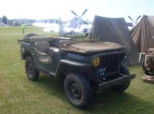 A WW2 Jeep in RAF Liaison Officer markings