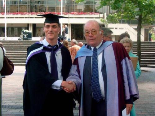 Graduation with my tutor Dr James H Thomas