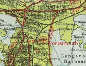 North Portsmouth, showing Ports Creek